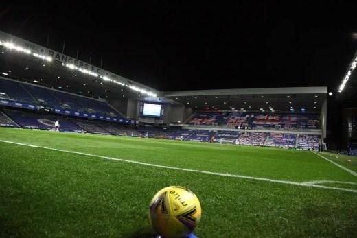 Ibrox Glasgow stadium-shaped apartment building