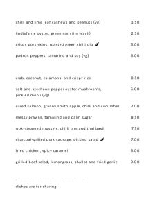 Ka Pao Glasgow Asian food menu