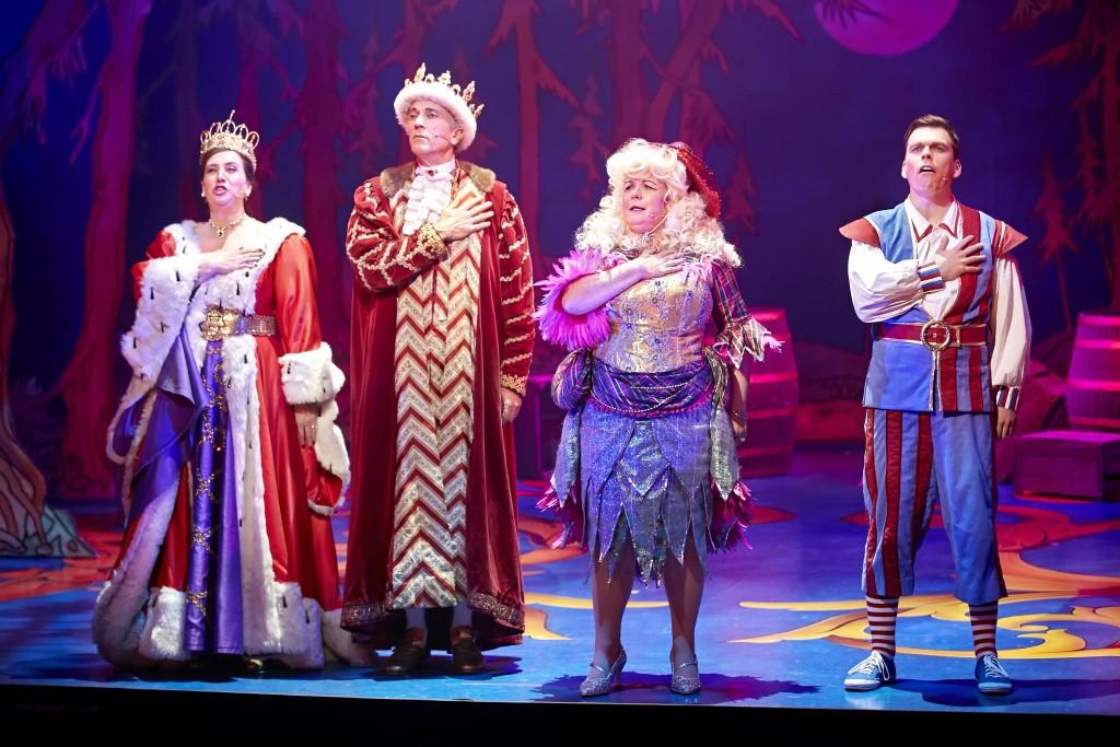 Louise Ludgate, Georgre Drennan, Elaine C Smith and Johhny Mac in Sleeping Beauty