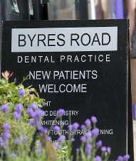 Photo: byres road dental practice.