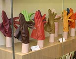 Photo: Coloured gloves in shop window.