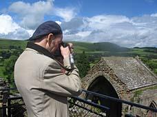 Photo: Jim at Melrose Abbey.