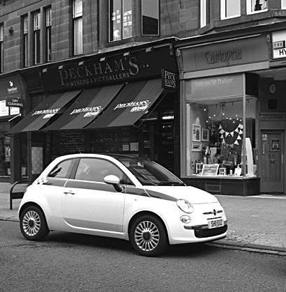 Photo: Peckams and car Highburgh Road, Glasgow West End.