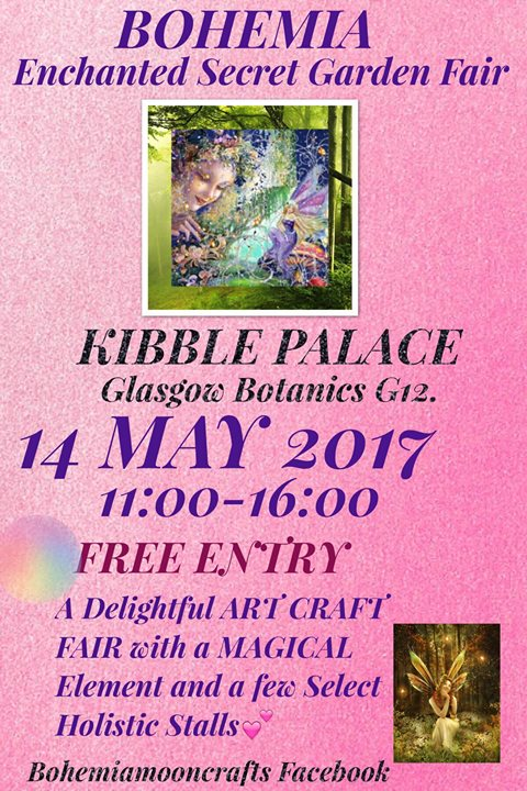 <h5>Bohemia Enchanted Secret Garden Fair </h5><p>Kibble Palace, 14 May, 2017</p>