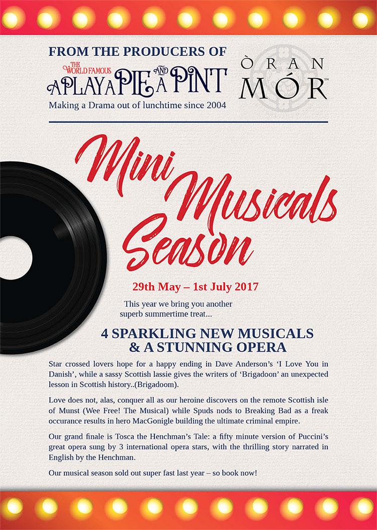 <h5>Mimi Musicals at OranMor</h5><p>29 May – 1 July</p>