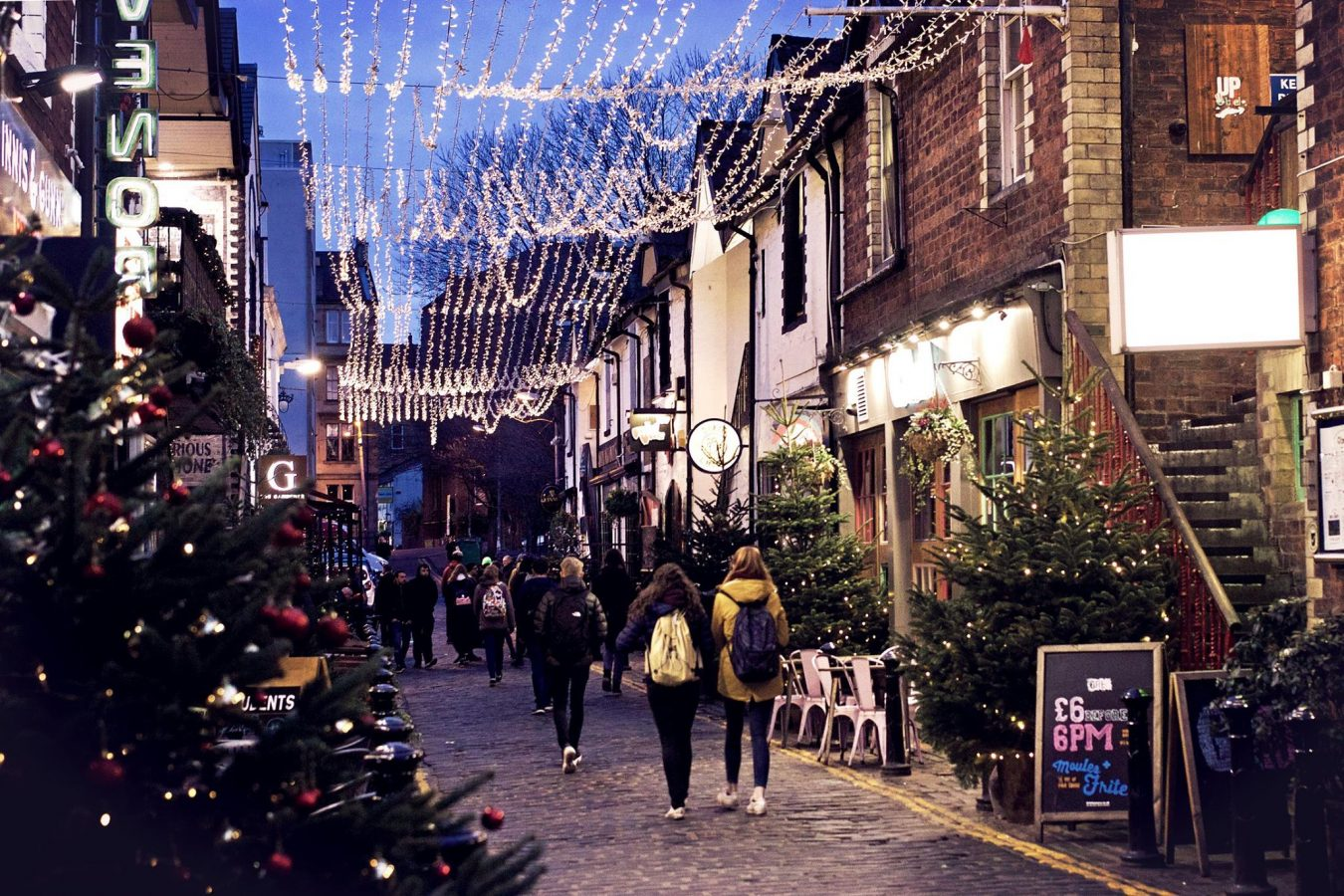 Ashton Lane at Christmas