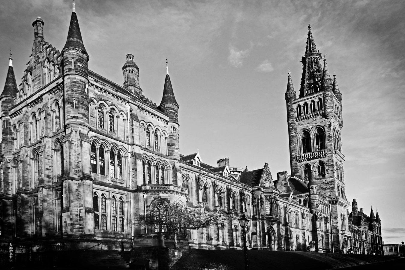 Landscape view of Glasgow University