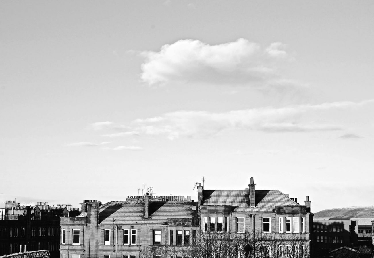 Lonely cloud above Anniesland Tenement