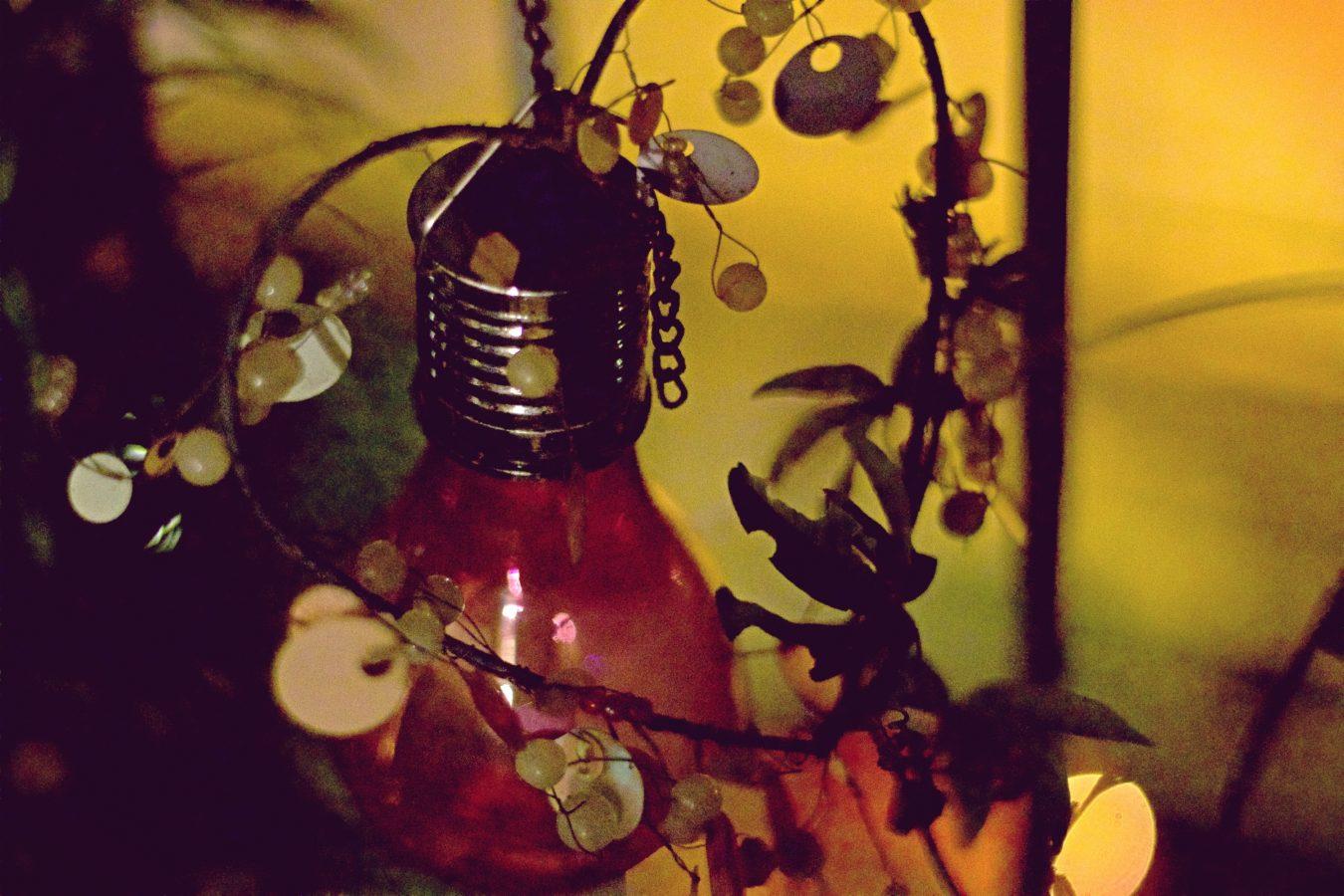 Night bulb on the balcony