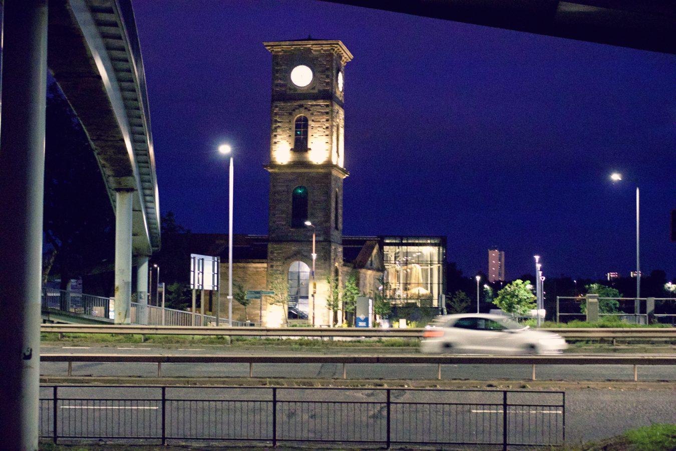 Glasgow Expressway at night