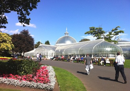 The Kibble Palace in The Botanic Gardens