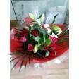rose lily display