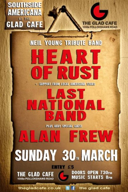 heart of rust glad cafe 20th march