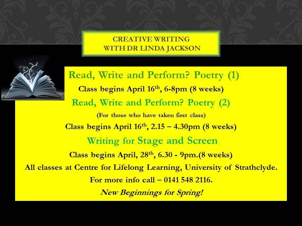 linda jackson poetry classes stclyde