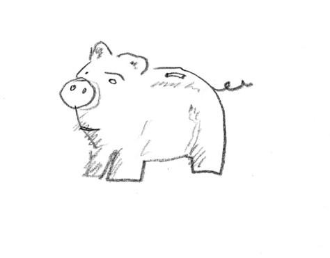 Porcelain pig