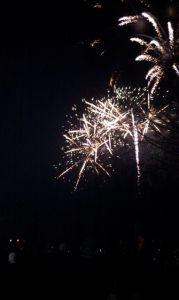 black white fireworks
