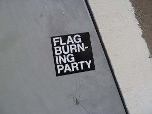flag burning party
