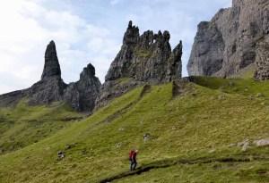 Alex Under the Storr Pinnacles. Skye