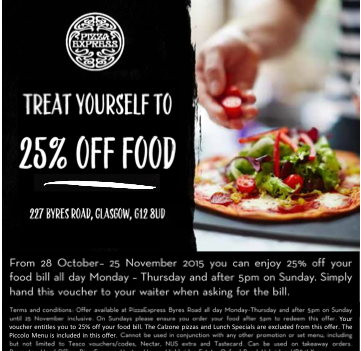 Pizza Express Opens On Byres Road G12 Get 25 Discount