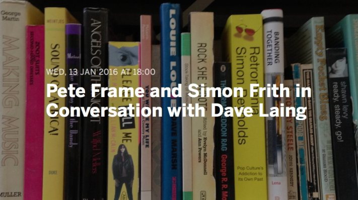 peter fram and simon frith in convesation with dave laing