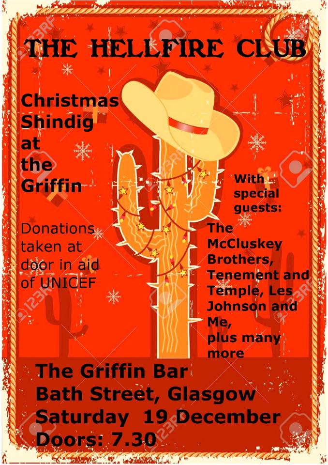 poster christmas shindig at the griffin
