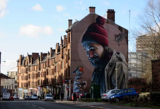 Mural on High Street. Glasgow