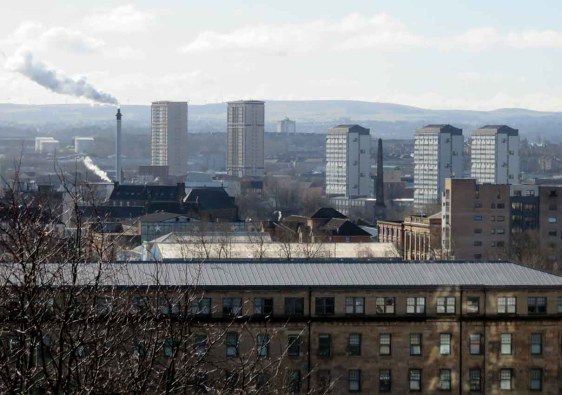 View over Glasgow and the Gorbals
