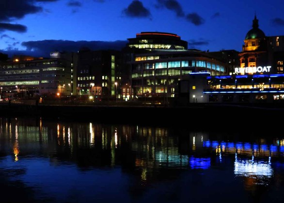 Glasgow Waterfront Lights. City Centre View