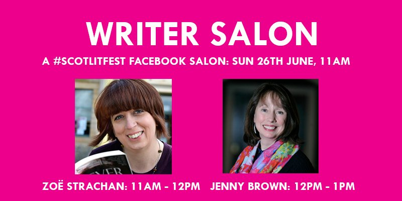 writer salon #scotlitfest facebook