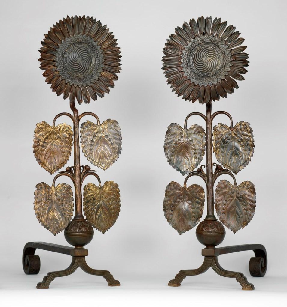 sunflower-andirons