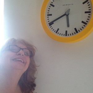 Pat loves her new kitchen clock