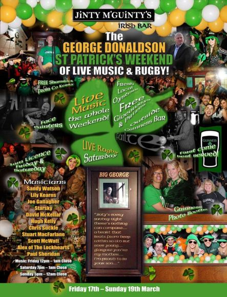 george donaldson day st patricks jintys