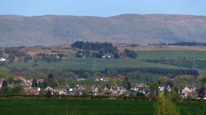 The Campsie Fells From Suburbia