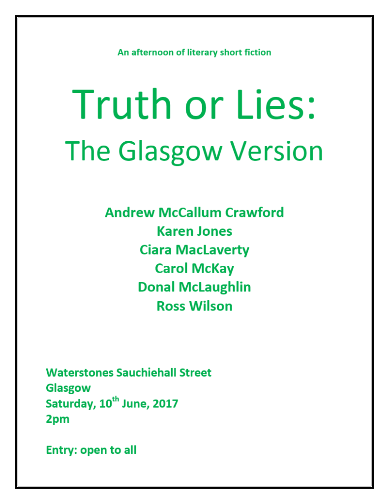 Truth or Lies The Glasgow Version PNG Poster
