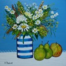 striped-blue-white-vase 1