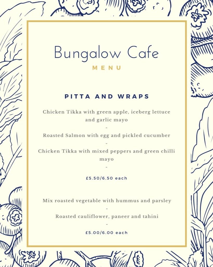 bungalow cafe menu