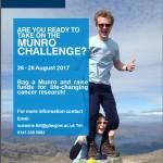 Munro Challenge, University of Glasgow, Cancer Sciences Fundraiser 26 – 28 August, 2017
