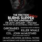 The Friction Burns Supper, Rio Pop Up, Glasgow
