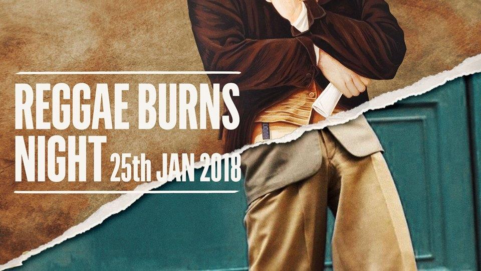 reggae burns night 25 jan