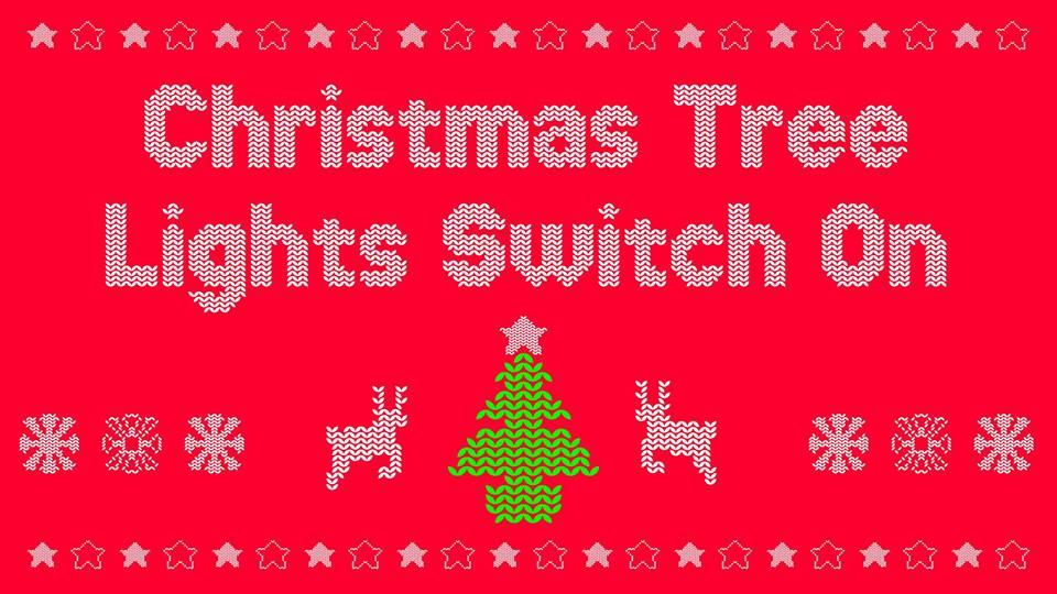christmas tree lights switch on