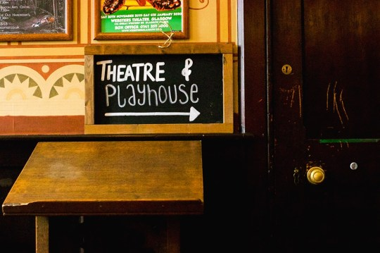 theatre and playhouse sign