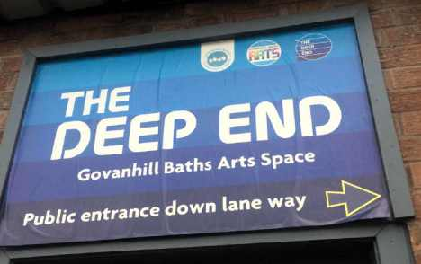 the deep end sign