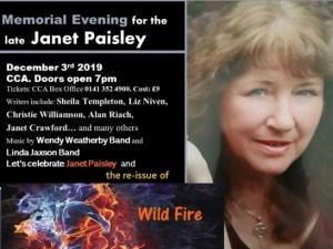 memorial evening janet paisley