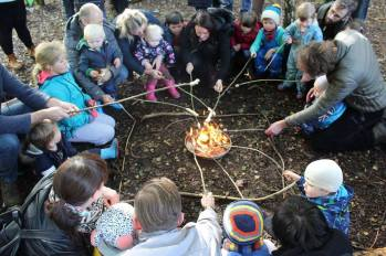 childrens wood fire