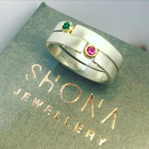 gem set puzzle ring