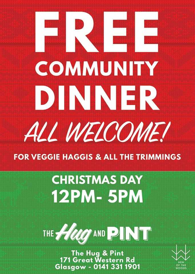free dinner hug and pint