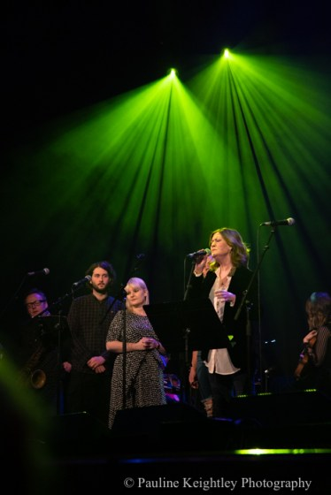 Glasgow, Scotland. 29th January 2020. Celtic Connections festival 2020. Karen Matheson, Scottish  Gaelic singer performed a concert Caledonia Soul at the Old Fruitmarket. as part of Celtic Connections 2020. Photo Pauline Keightley/ Alamy News.