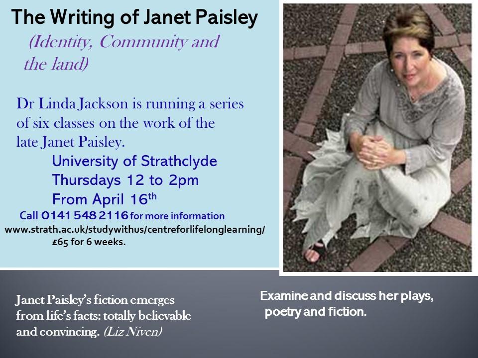 linda jackson janet paisley course