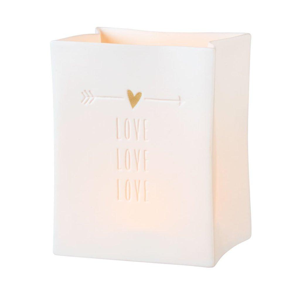 love porcelain light bag
