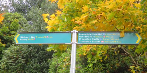Info Sign. Leverndale. Glasgow